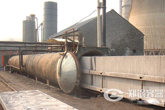 湖北蒸压灰砂砖生产线2*21米蒸压釜项目